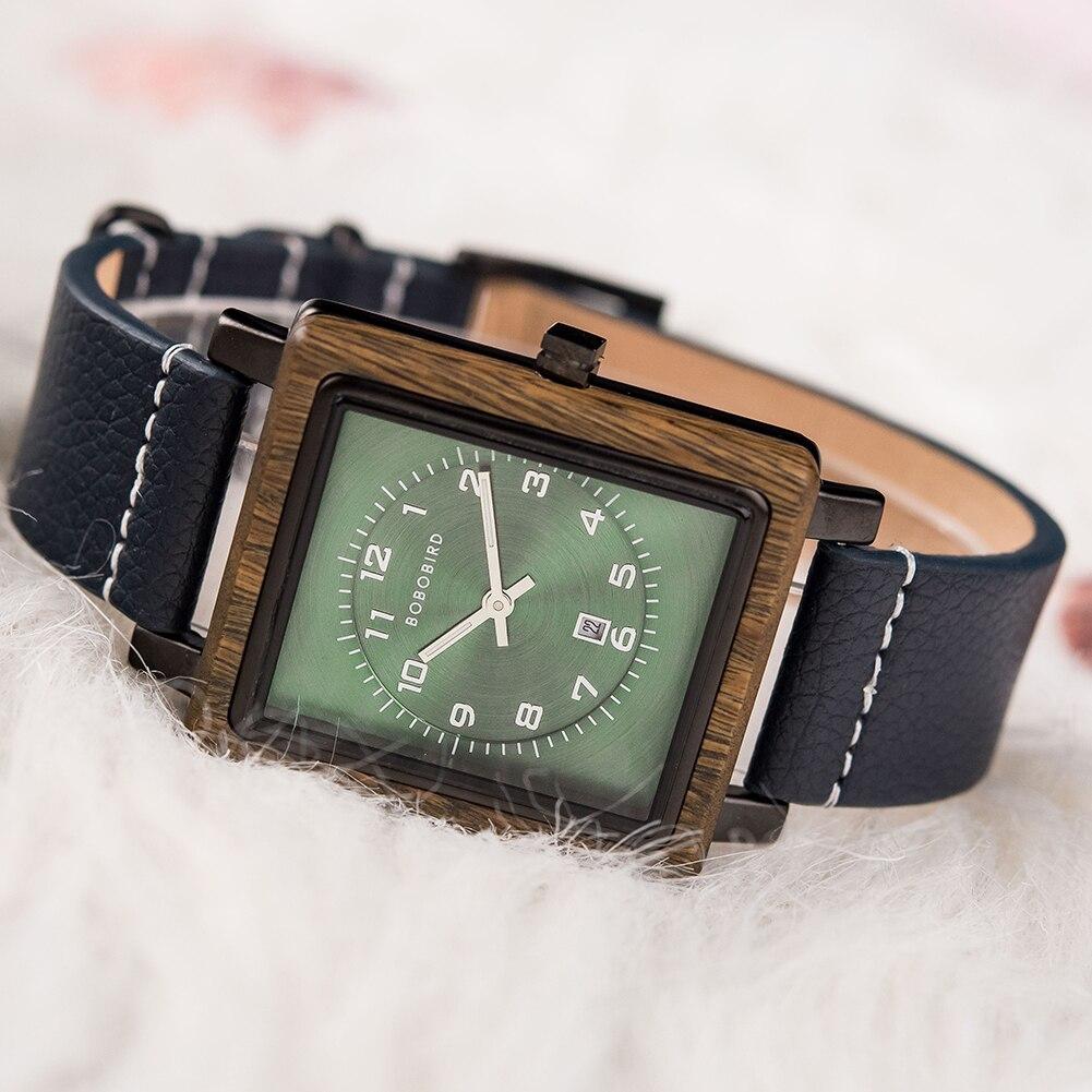 Relógio de Madeira e Aço Inox Lophantera - Bobo Bird