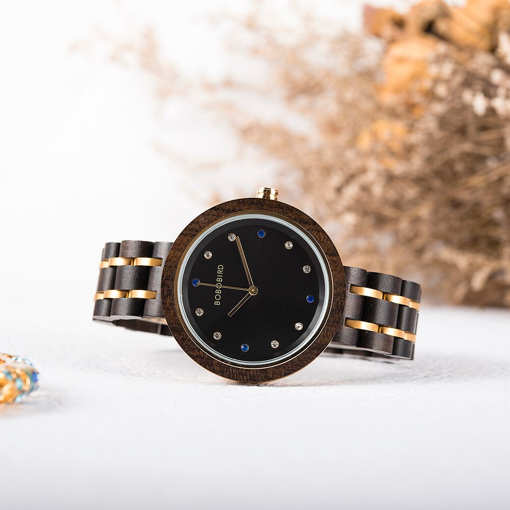Relógio de Madeira e Aço Inox Maclura