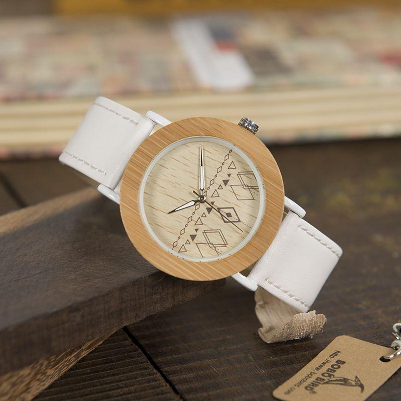 Relógio de Madeira e Aço Inox Mauritia - Bobo Bird