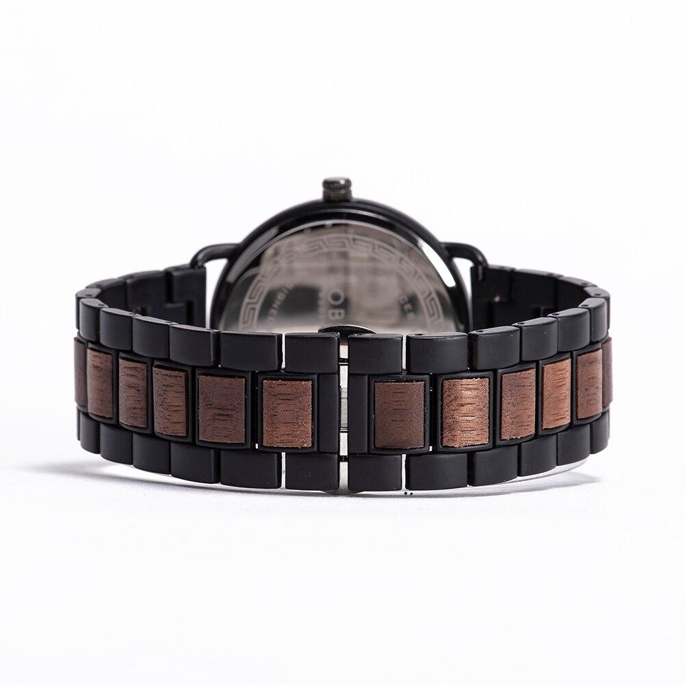 Relógio de Madeira e Aço Inox Myroxylon - Bobo Bird