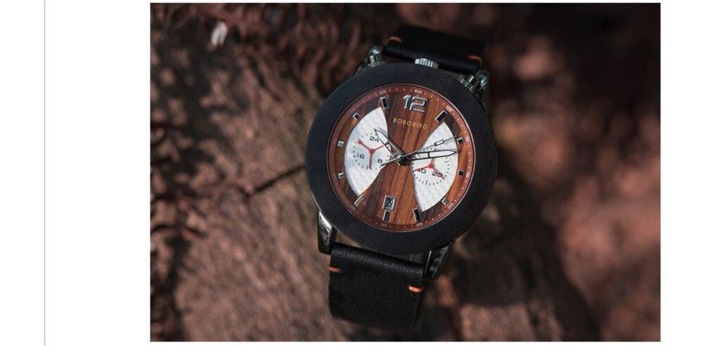 Relógio de Madeira e Aço Inox Salacia - Bobo Bird