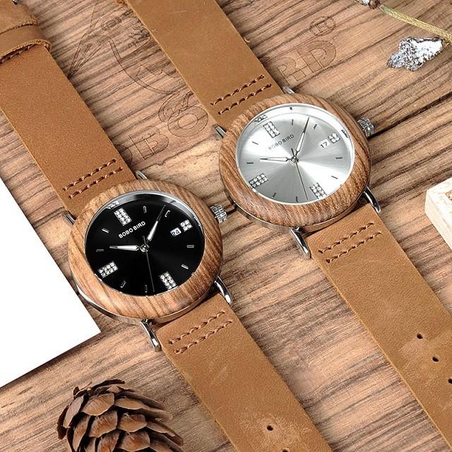 Relógio de Madeira e Aço Inox Schott  - Bobo Bird