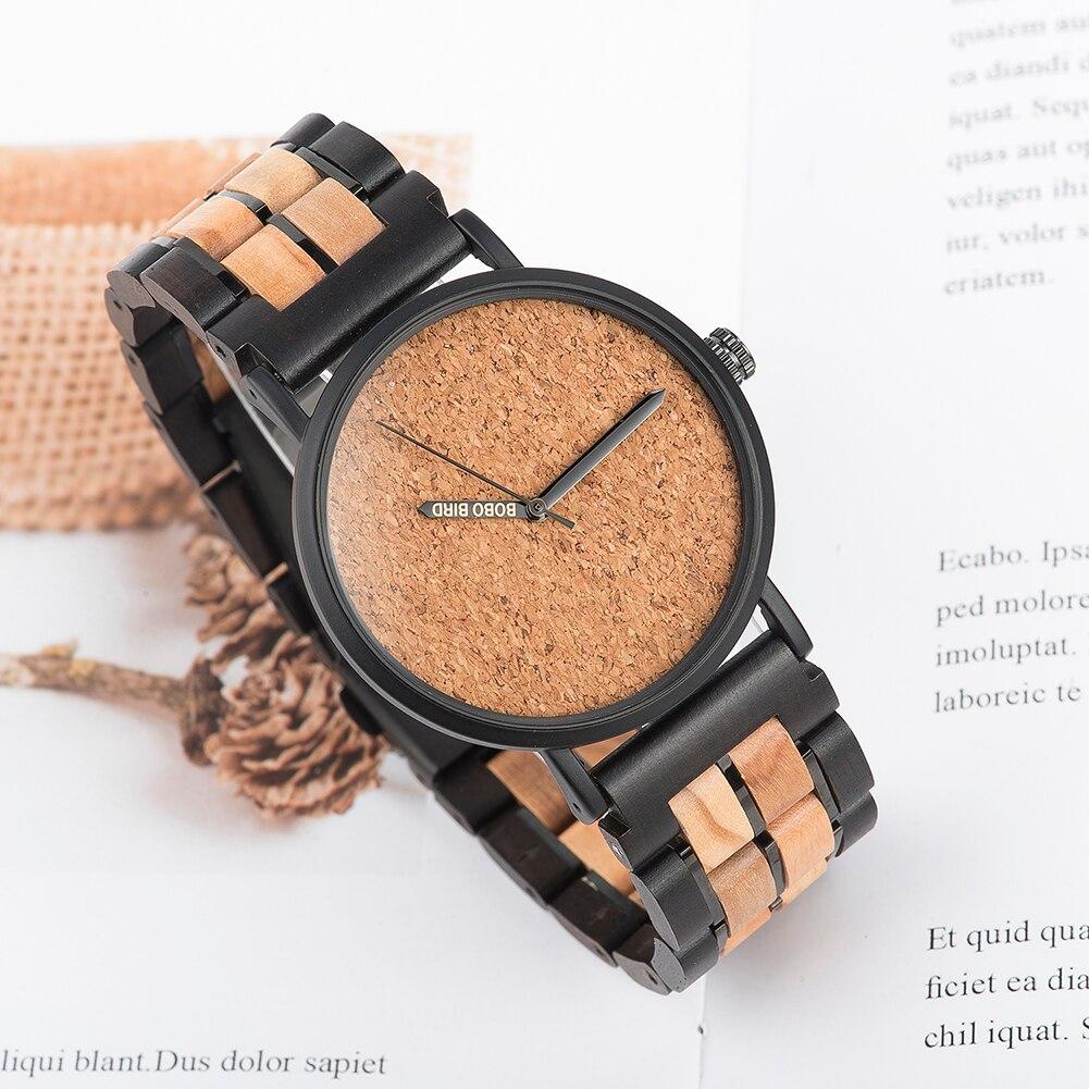 Relógio de Madeira e Aço Inox Simira - Bobo Bird