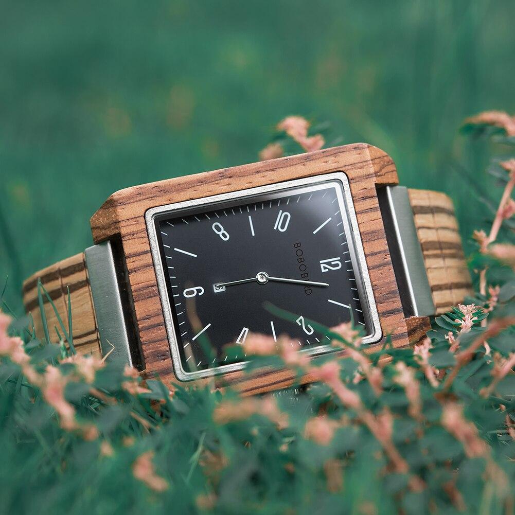 Relógio de Madeira e Aço Inox Sophora - Bobo Bird