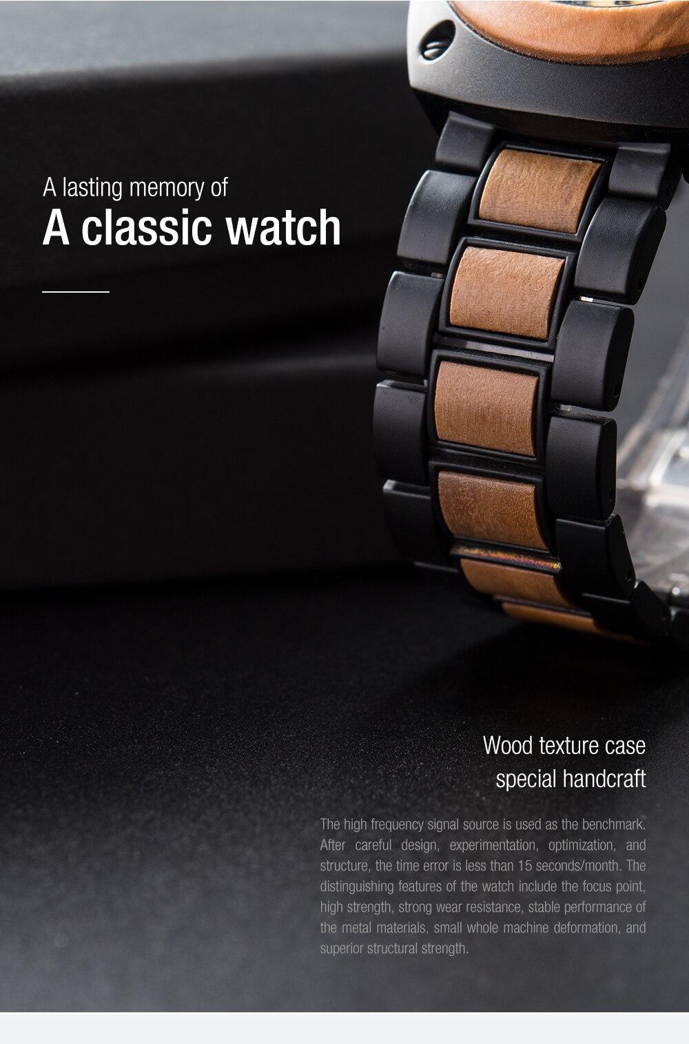 Relógio de Madeira e Aço Inox Theobroma - Bobo Bird