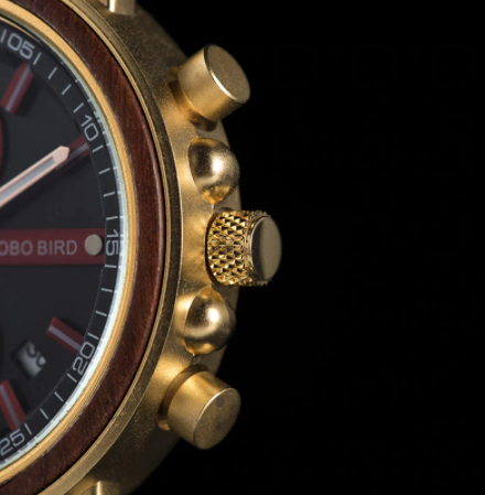 Relógio de Madeira e Aço Inox Trichilia - Bobo Bird