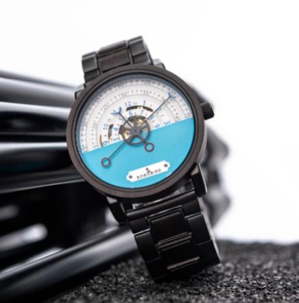Relógio de Madeira e Aço Inox Zollernia - Bobo Bird