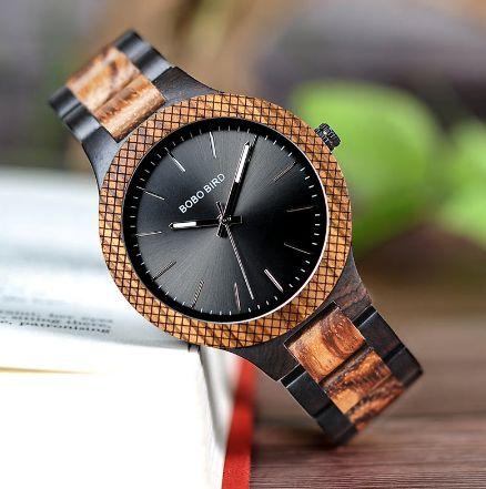 Relógio de Madeira Gallesia - Bobo Bird