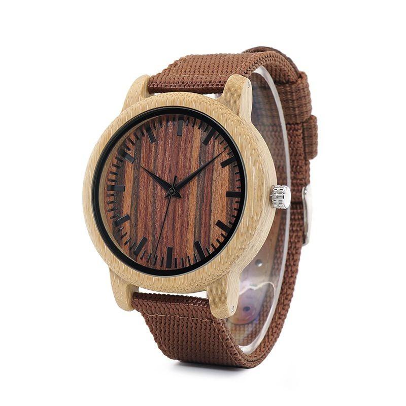 Relógio de Madeira Ginkgo Vermelho - Bobo Bird