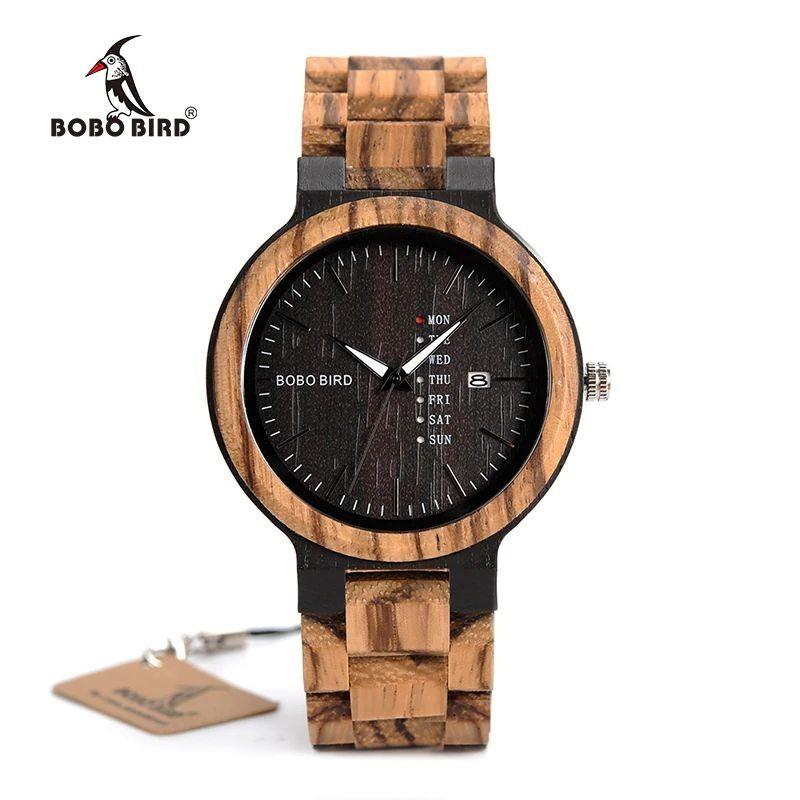 Relógio de Madeira Hura - Bobo Bird