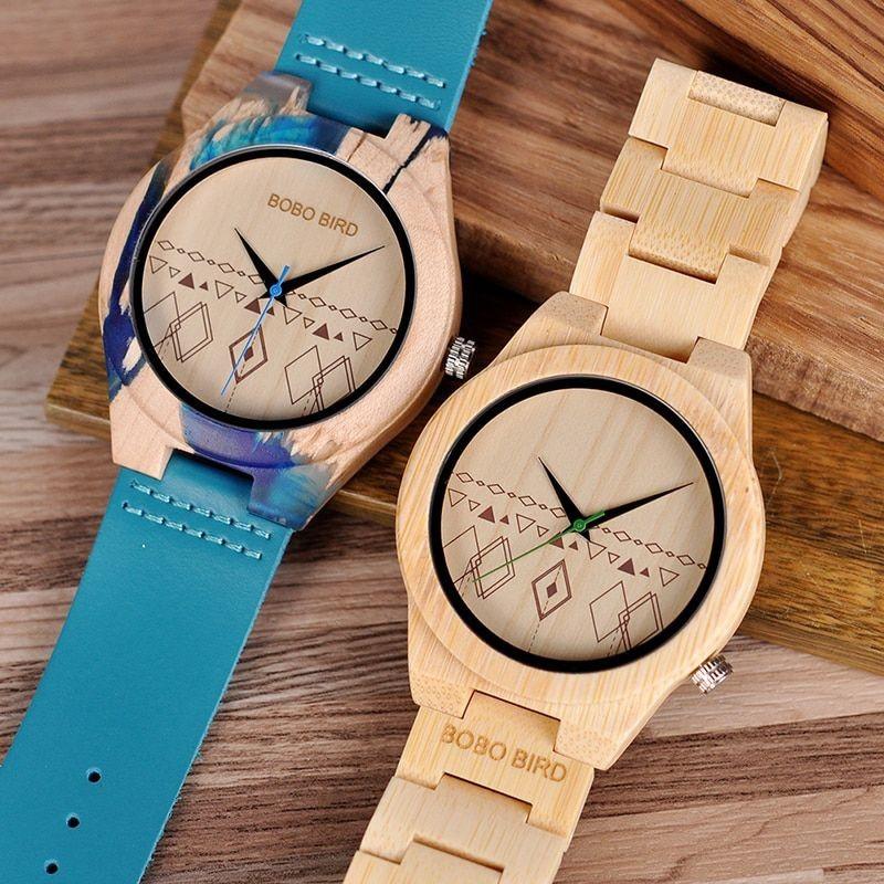 Relógio de Madeira Jacaranda - Bobo Bird