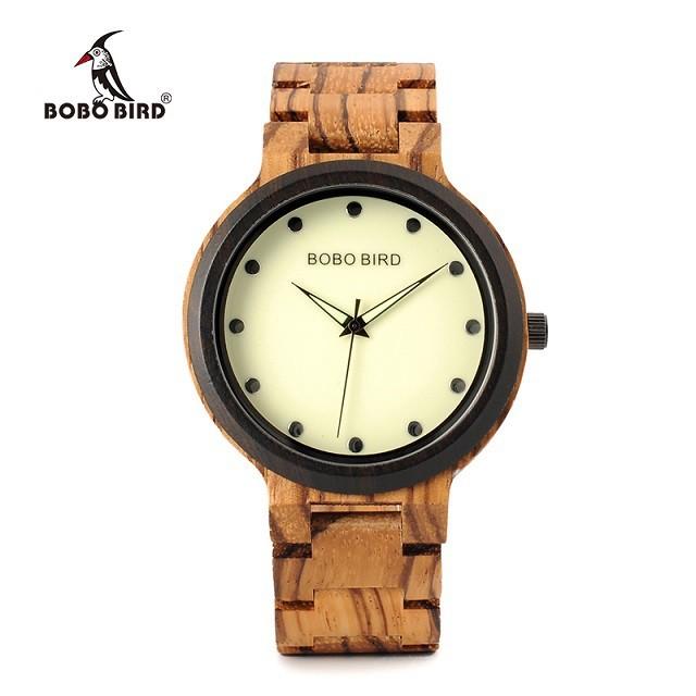 Relógio de Madeira Luehea - Bobo Bird
