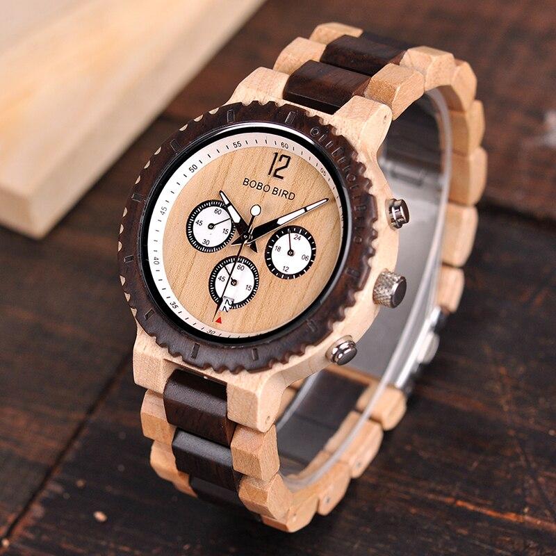 Relógio de Madeira Macadamia - Bobo Bird