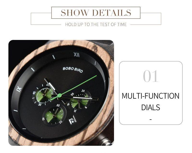 Relógio de Madeira Magnólia - Bobo Bird