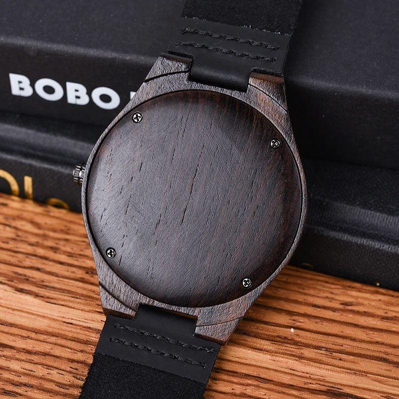Relógio de Madeira Manihot - Bobo Bird