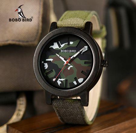 Relógio de Madeira Matayba - Bobo Bird