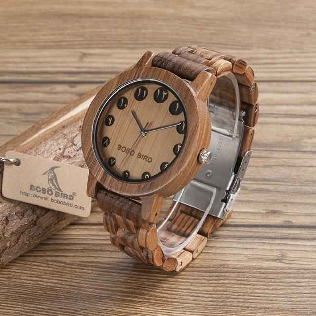 Relógio de Madeira Medjool - Bobo Bird