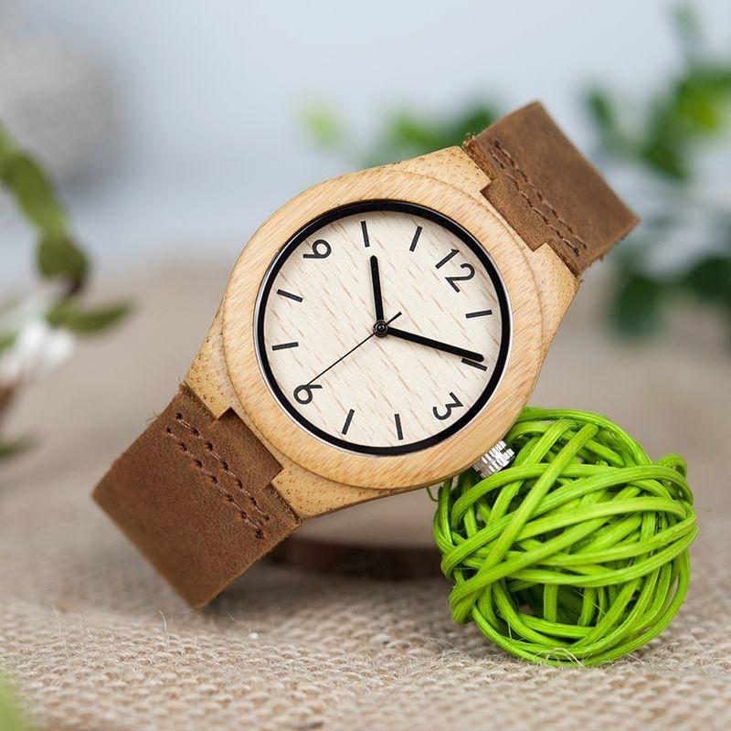 Relógio de Madeira Myrcia - Bobo Bird