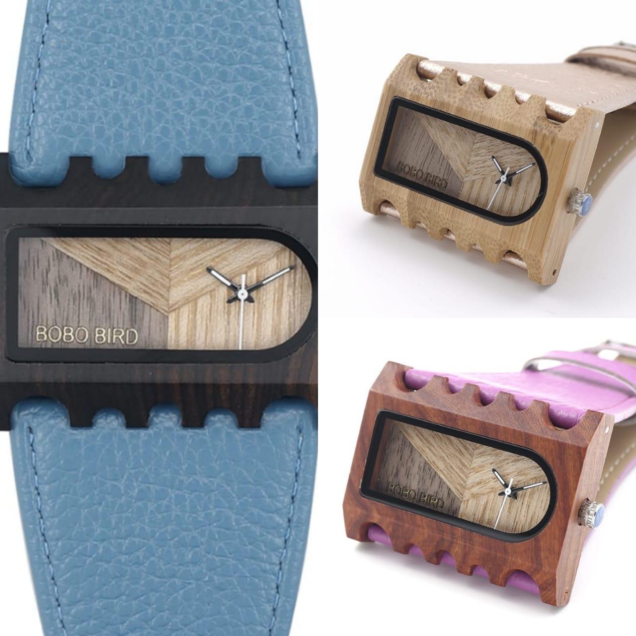 Relógio de Madeira Nerium - Bobo Bird