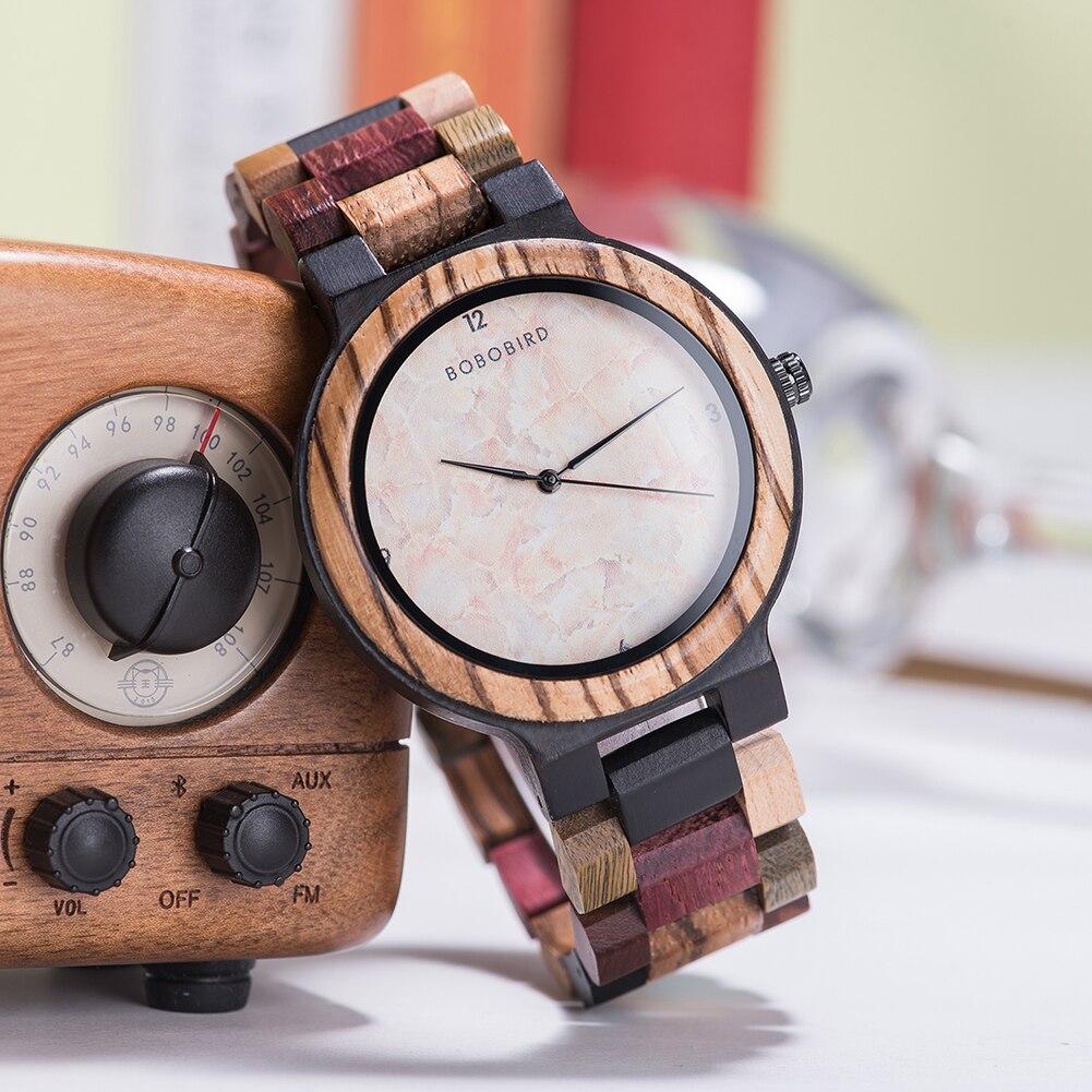 Relógio de Madeira Ocotea - Bobo Bird