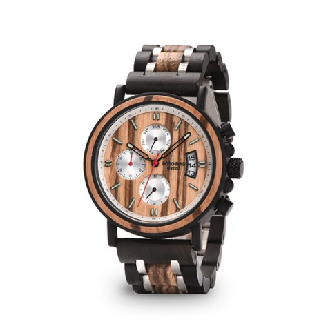 Relógio de Madeira e Aço Inox Oxalis - Bobo Bird
