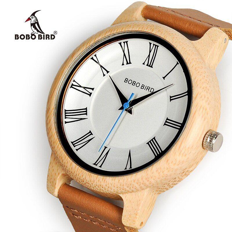 Relógio de Madeira Piptadenia - Bobo Bird