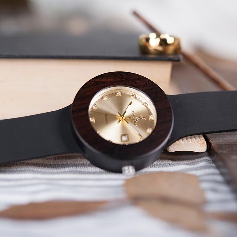 Relógio de Madeira Platanus - Bobo Bird