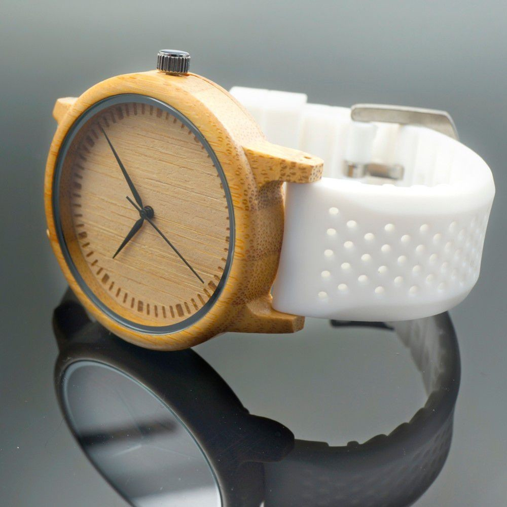 Relógio de Madeira Prunus - Bobo Bird