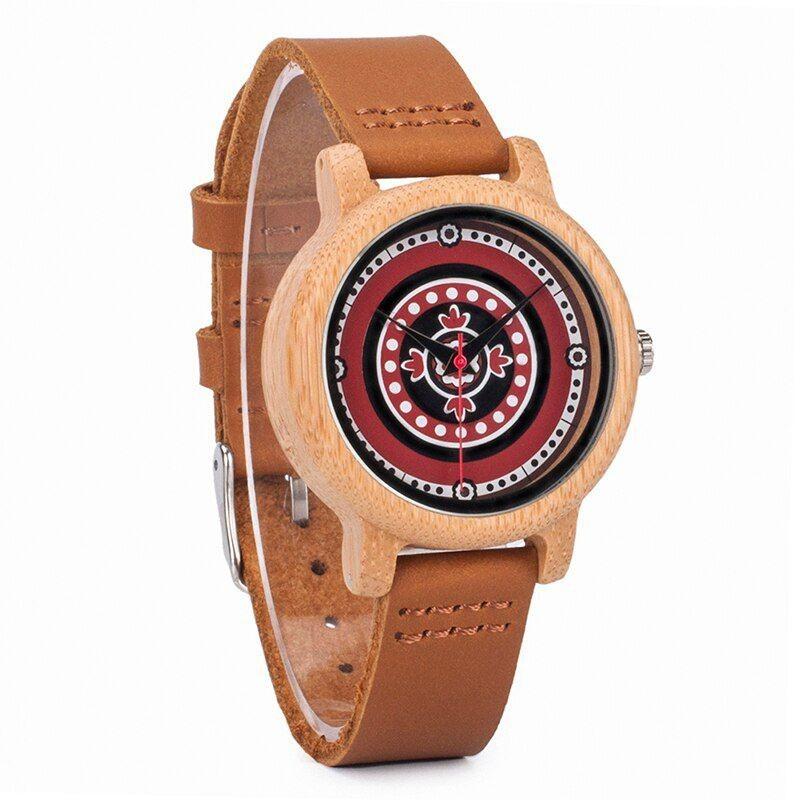 Relógio de Madeira Pyrus Vermelho - Bobo Bird