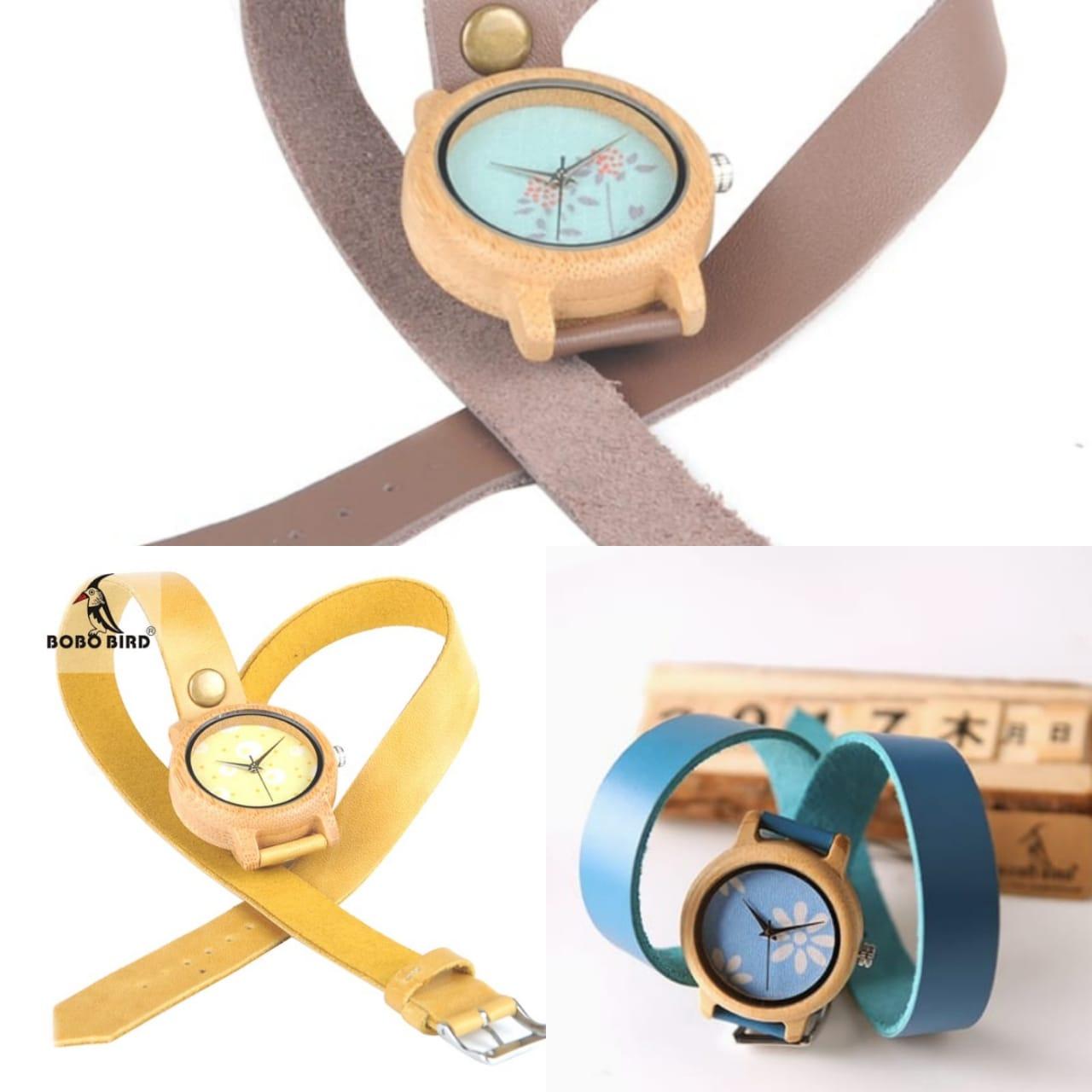 Relógio de Madeira Quercus - Bobo Bird