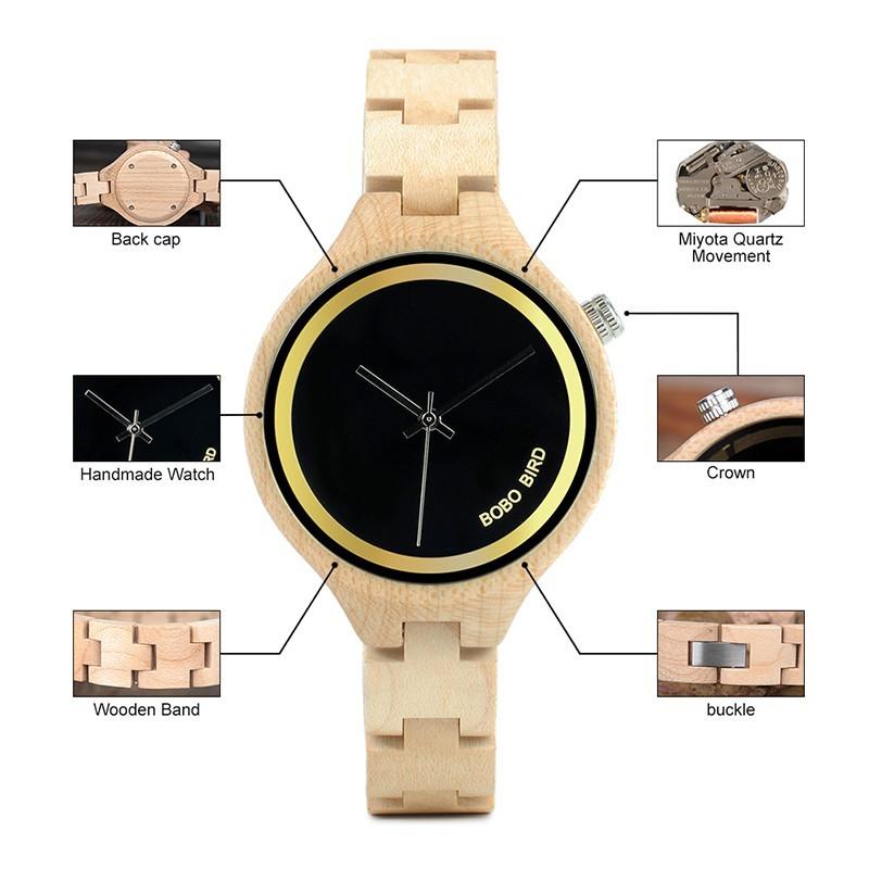 Relógio de Madeira Ravenala - Bobo Bird