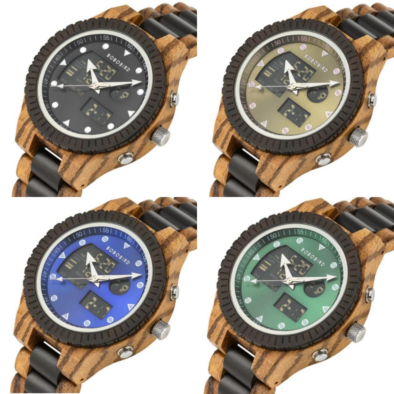 Relógio de Madeira Roupala - Bobo Bird