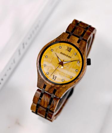 Relógio de Madeira Siparuna - Bobo Bird