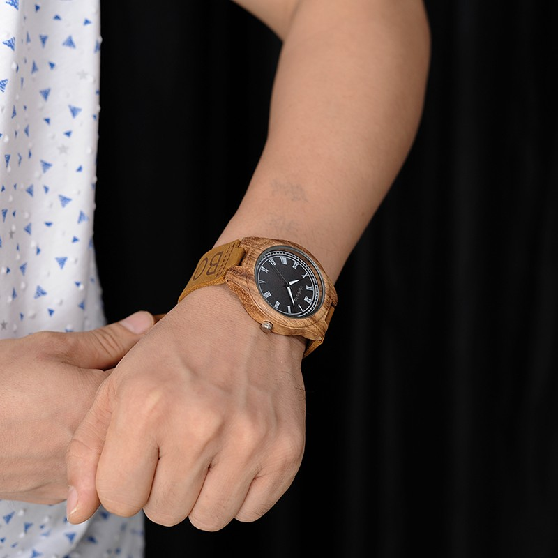 Relógio de Madeira Styrax - Bobo Bird