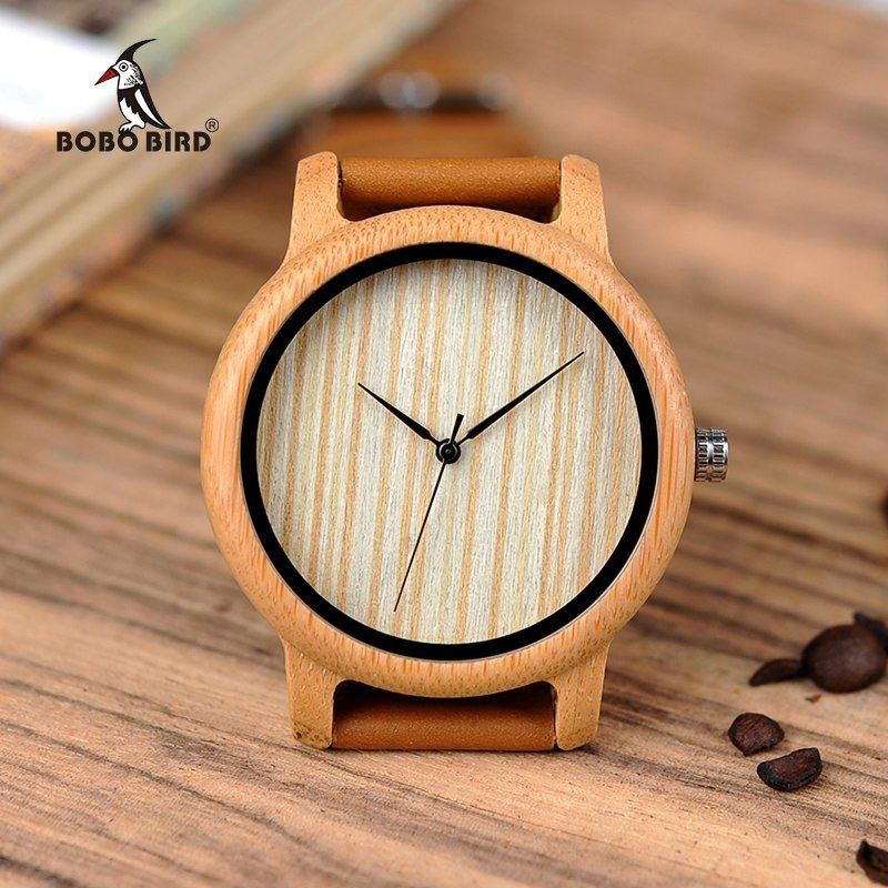 Relógio de Madeira Symplocos - Bobo Bird