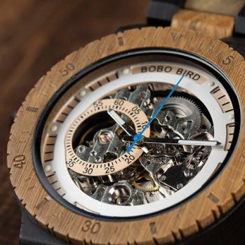 Relógio de Madeira Tachigali - Bobo Bird