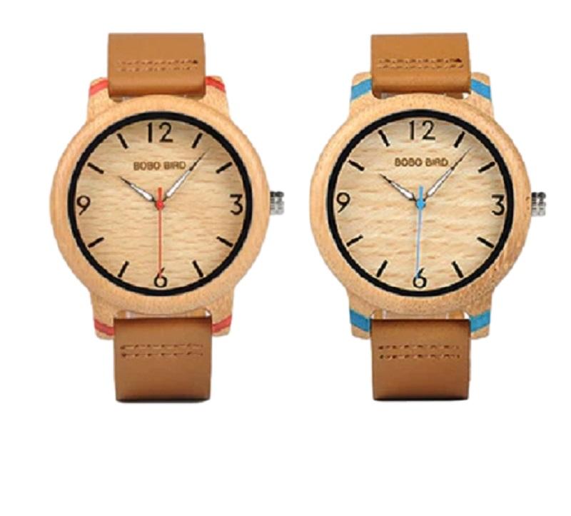 Relógio de Madeira Tipuana - Bobo Bird