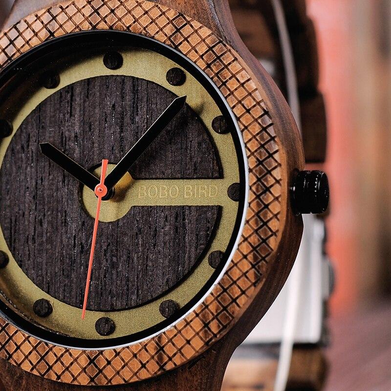 Relógio de Madeira Vernicia - Bobo Bird