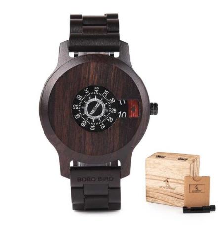 Relógio de Madeira Zizyphus - Bobo Bird