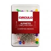 Alfinete Perolado Cabeça Redonda Circulo - 80 Unidades
