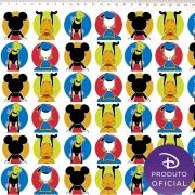 Tecido Tricoline Estampa Mickey Mouse e sua Turma - 50cm x 1,50 cm