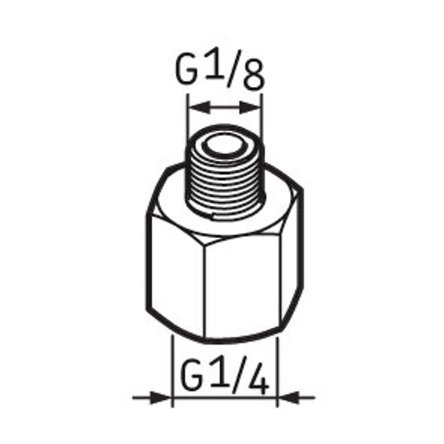 Pino graxeiro G1/4 - G1/8 - Lubrificação SKF LAPN 1/8