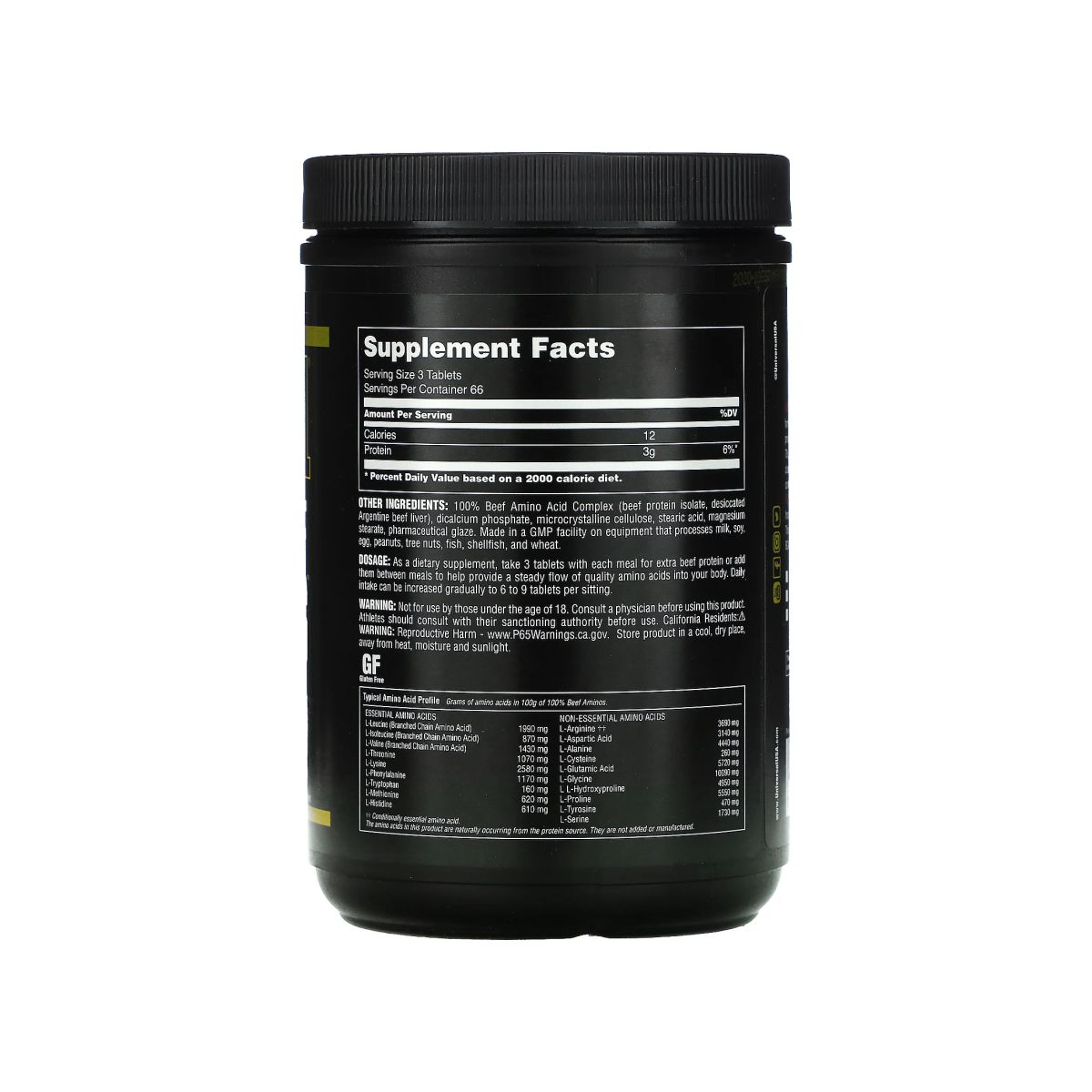 100% Amino Beef Aminos 200 Tabs - Universal