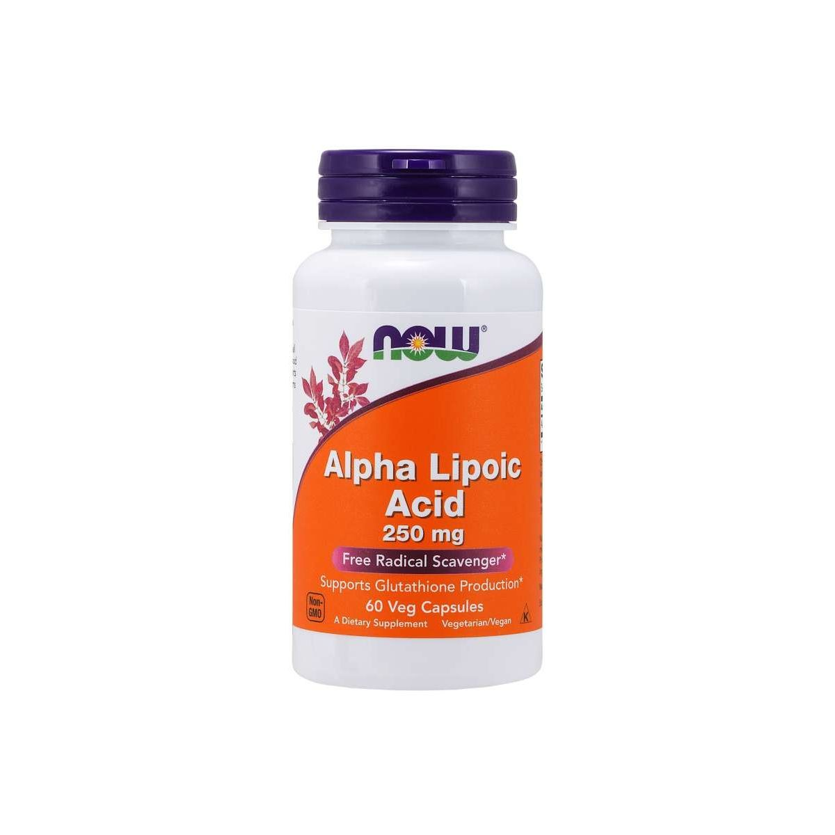 Alpha Lipoic Acid 250 mg 60 Caps - Now Foods