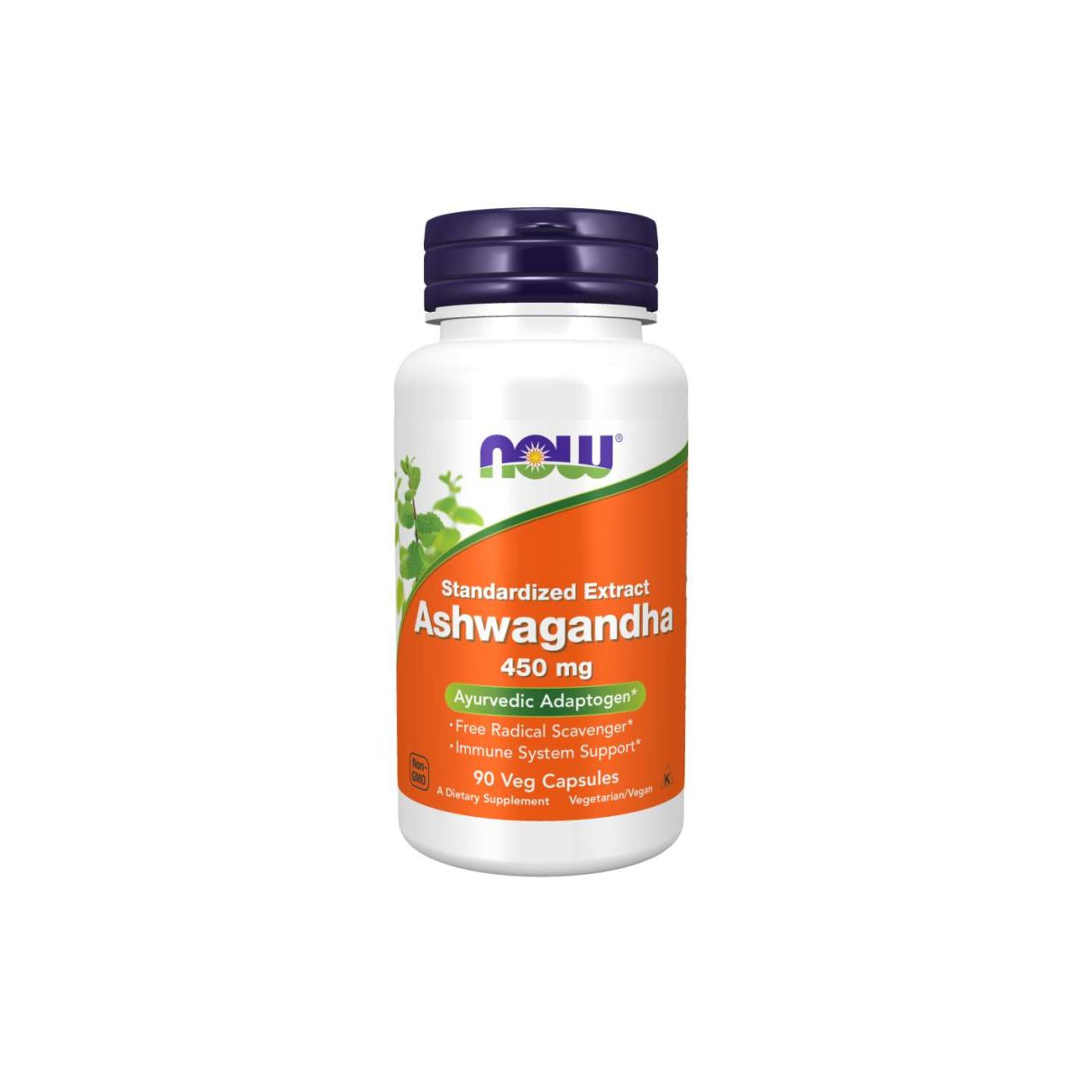 Ashwagandha 450mg 90 Caps - Now Foods
