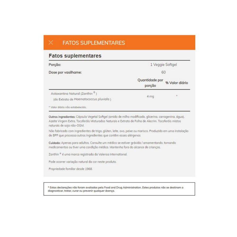 Astaxantina 4mg 60 capsulas - Now Foods