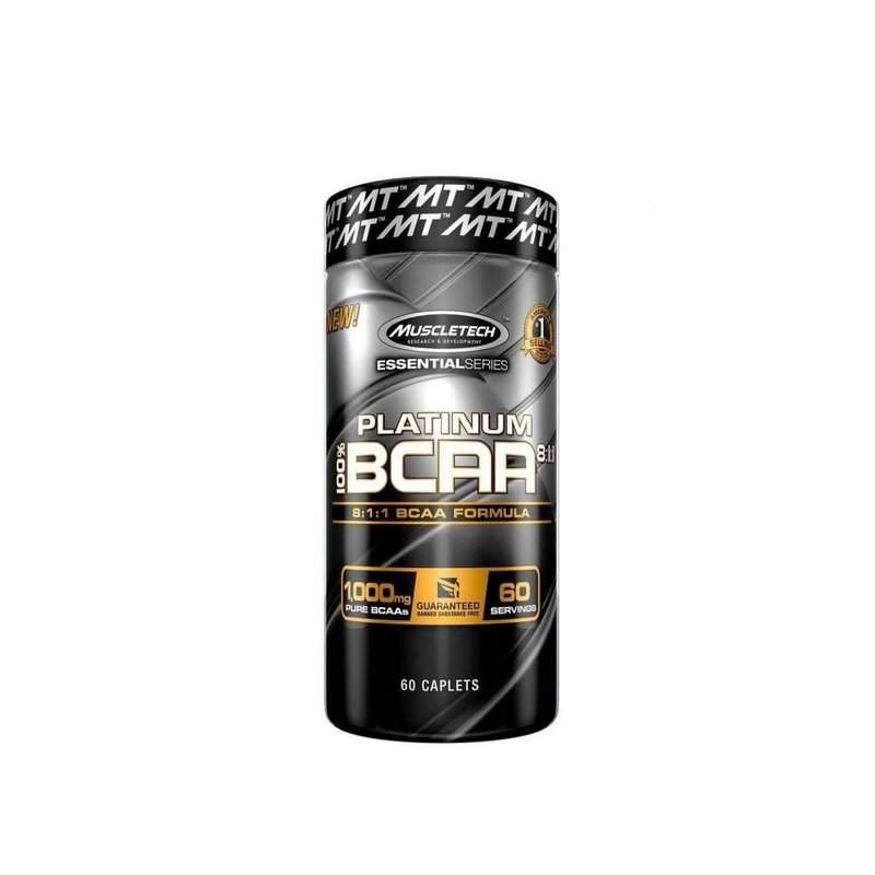 Bcaa 100% Platinum 8:1:1 60Caps 1000Mg - Muscletech