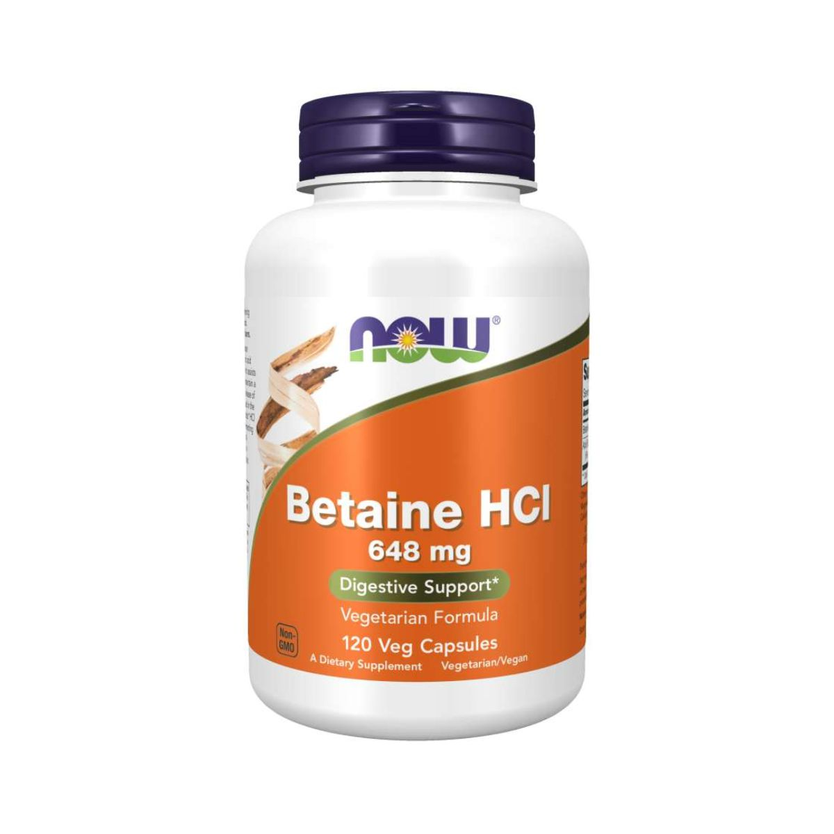 Betaine HCI Suporte Digestivo 120Caps - Now Foods