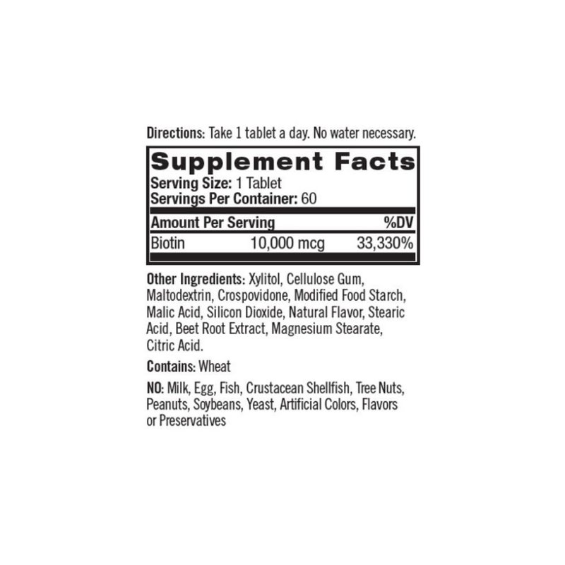 Biotina 10000mcg 100 Tabs -  Natrol