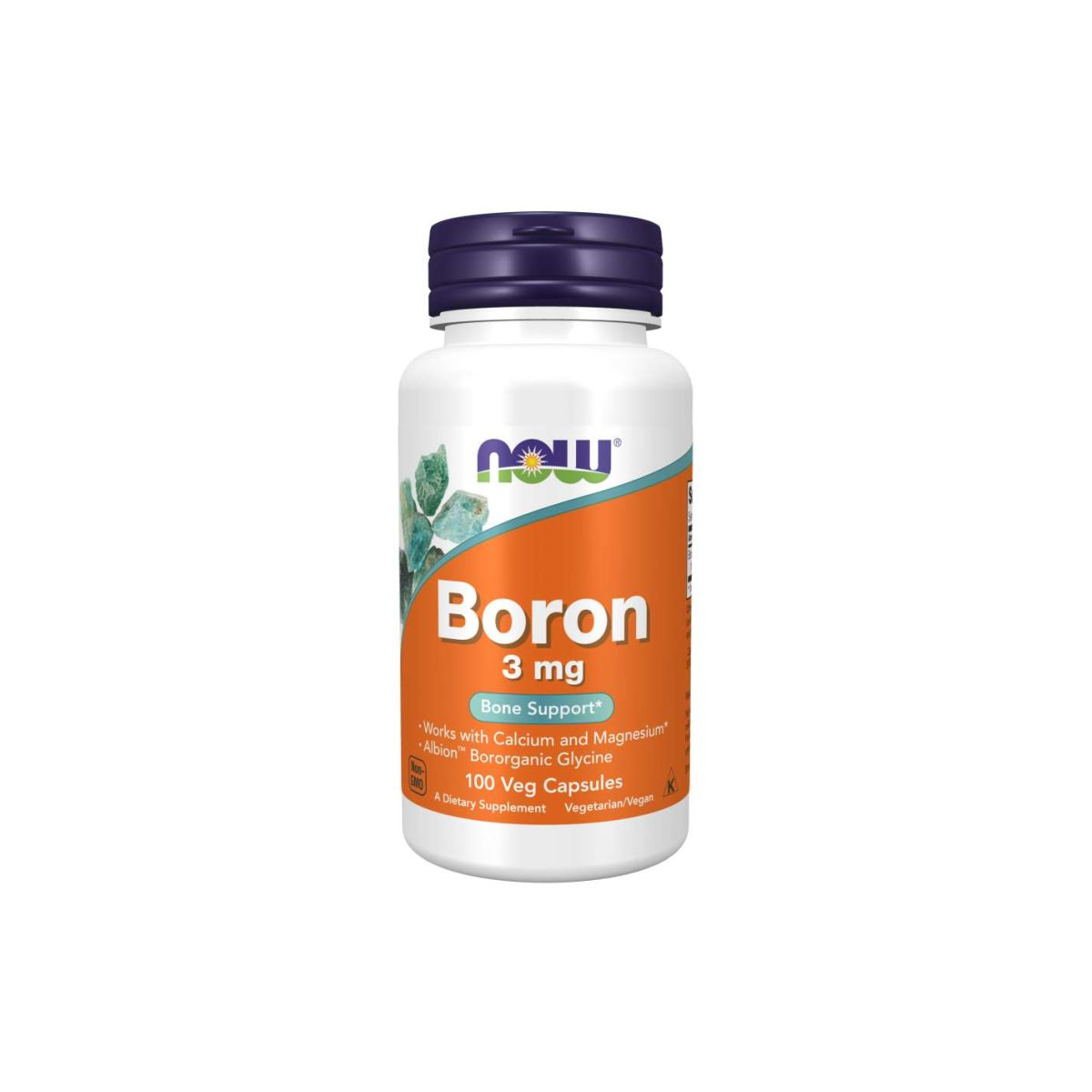 Boron 3mg Bone Support 100 Caps - Now Foods